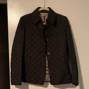 Burberry Women's Quilted Black Jacket